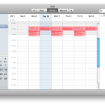 synched to iCal